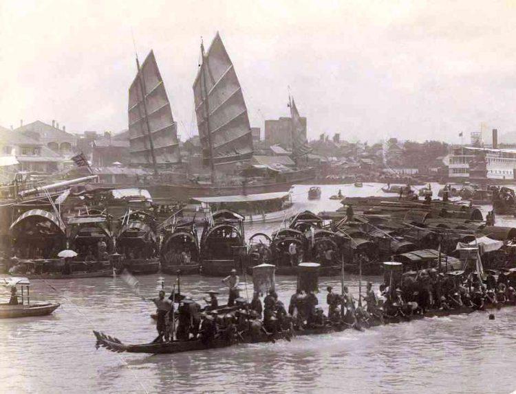 Shangai in a XIX century