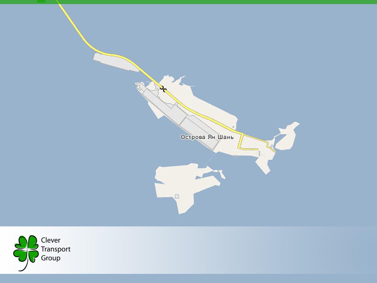 Карта порта Яншань на месте архипелага Яншань