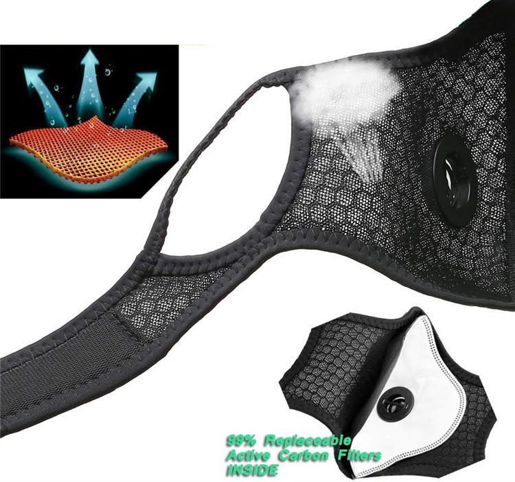 Дыщащий материал маски Velcro Spandex обеспечивает хорошую проницаемость и не раздражает кожу